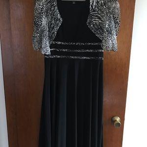 Worn once sleeveless dress with jacket